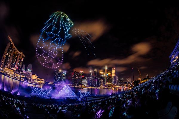シンガポールThe Float @ Marina Bayで開催された「STAR ISLAND SINGAPORE COUNTDOWN EDITION 2019-2020」の様子④