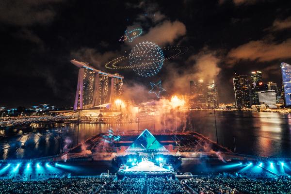 シンガポールThe Float @ Marina Bayで開催された「STAR ISLAND SINGAPORE COUNTDOWN EDITION 2019-2020」の様子⑦