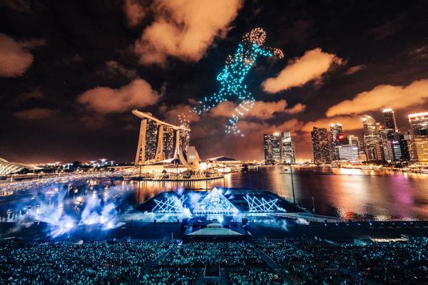 シンガポールThe Float @ Marina Bayで開催された「STAR ISLAND SINGAPORE COUNTDOWN EDITION 2019-2020」の様子⑧