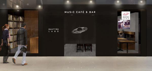 クラブクアトロがプロデュースするミュージックカフェ&バーQUATTRO LABOが、11月22日(金)、渋谷PARCO B1にオープン。