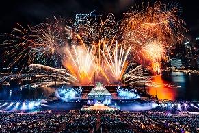 超ド派手、これぞ世界のカウントダウン! STAR ISLAND、2度目のシンガポール公演開催