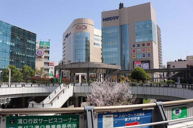 東急田園都市線溝の口駅のキラリデッキ