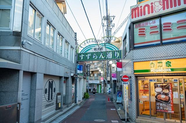 京王線「明大前駅」の周辺