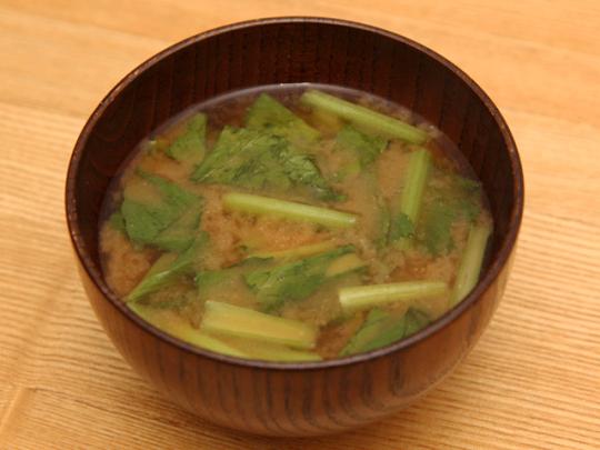 味噌×ケチャップの味噌汁が完成